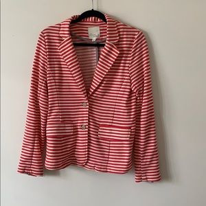 Olive & Oak Stripe Button Blazer Pink Size Medium